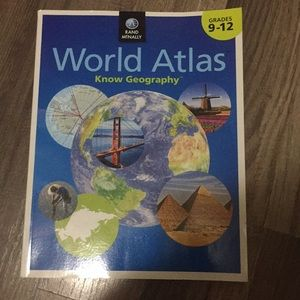 World Atlas know Geography book